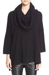 Autumn Cashmere Oversized Convertible Cowl Neck Sweater Black