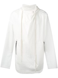 Lost And Found Ria Dunn Sprint Hooded Jacket Men Cotton Polyurethane L White