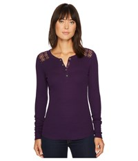 Ariat Dunton Henley Plum Depths Women's Clothing Purple