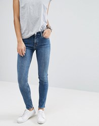 Weekday Tuesday Mid Rise Slim Leg Jean Peer Blue