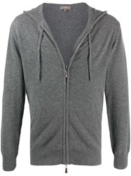 N.Peal Cashmere Knitted Hoodie Grey