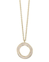 Stardust 18K Gold Diamond Open Circle Pendant Necklace Ippolita Red