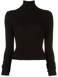Blk Dnm Turtle Neck Jumper Black