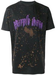Palm Angels 'Purple Haze' T Shirt Black