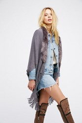 Free People Womens After Party Faux Fur Kimo