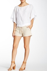 Jolt Striped Sailor Linen Blend Short Juniors Beige