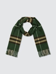 Burberry Classic Check Cashmere Scarf Green