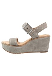 Clarks Aisley Orchid Wedge Sandals Sage Grey