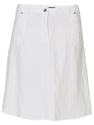 Betty Barclay A Line Linen Blend Skirt Bright White