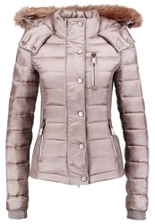 Superdry Luxe Fuji Winter Jacket Shimmer Grey