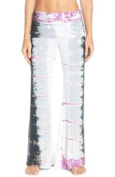 Women's Hard Tail Ruched Waist Bootleg Flare Pants