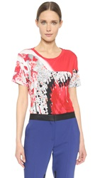 Prabal Gurung Printed Tee Crimson Black