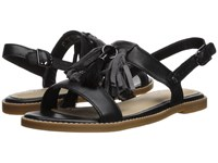 Hush Puppies Chrissie Tassel Black Leather Sandals
