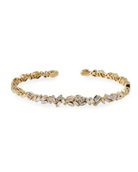 Suzanne Kalan Tilted Baguette Diamond Bangle In 18K Yellow Gold