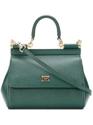 Dolce And Gabbana Small Sicily Bag Green