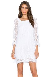 Gypsy 05 Crochet 3 4 Sleeve Mini Dress White