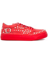 Jimmy Choo Studded Trainers Red