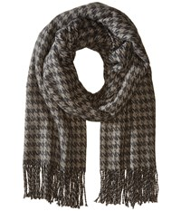 Hat Attack Houndstooth Blanket Scarf Grey Scarves Gray