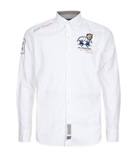 La Martina Oxford Stretch Shirt Male White
