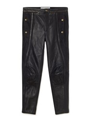 Chloe Panelled Leather Biker Trousers Black