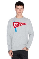 Lazy Oaf Go Away Sweatshirt Gray