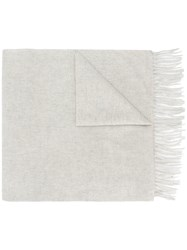 N.Peal Large Woven Scarf Grey