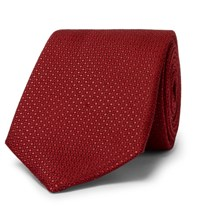 Canali 8Cm Silk Jacquard Tie Red