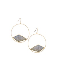 Lana Hoop Earrings With Diamond Shaped Labradorite