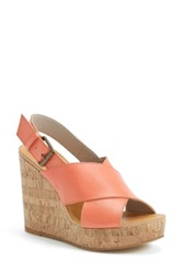 Hinge Wedge Sandal Women Orange