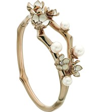 Shaun Leane Cherry Blossom Rose Gold Vermeil Ivory Enamel Pearl And Diamond Cuff