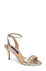 Nina Women's Kabira Embellished Strappy Sandal Platino Leather