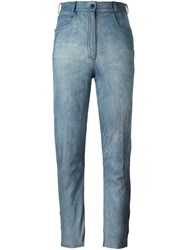 Fendi Vintage Acid Wash Effect Jeans Blue