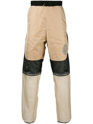 Astrid Andersen Sheer Detail Jogging Trousers Men Polyester Polyamide 8 Xl Nude Neutrals