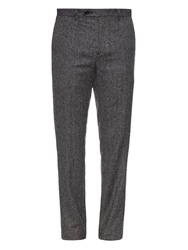 Wooyoungmi Herringbone Wool And Silk Blend Trousers