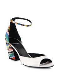 Pierre Hardy Leather And Suede Rainbow Block Heel Sandals