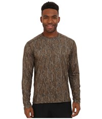 Terramar 2.0 Stalker Long Sleeve Crew Mossy Oak Bottomland Men's Long Sleeve Pullover Brown