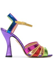 Charlotte Olympia Isla Rainbow Sandals Multicolour