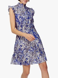 Brora Marble Ruffle Dress Violet