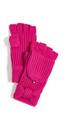 Kate Spade New York Solid Bow Pop Top Mittens Begonia Bloom