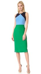 Diane Von Furstenberg Sleeveless Midi Dress Green Envy