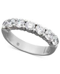 Macy's Certified Seven Diamond Station Band Ring In 14K White Gold 1 1 2 Ct. T.W.
