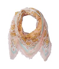 Collection Xiix Batik Medallion Square Coral Scarves