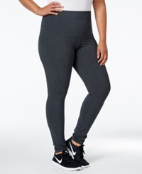 Styleandco. Style Co. Sport Plus Size Tummy Control Active Leggings Only At Macy's Charcoal Heather