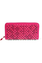 Christian Louboutin Panettone Studded Leather Continental Wallet Pink