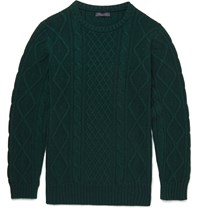 Thom Sweeney Holly Cable Knit Cashmere Sweater Green