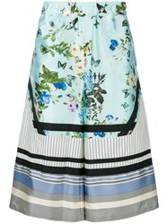 Astrid Andersen Printed Wide Leg Shorts Multicolour