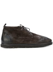 Marsell Chunky Sole Ankle Boots Men Leather Foam Rubber 43 Brown