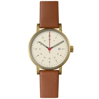 Void V03d Date Watch Gold Light Brown And Off White