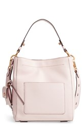 Cole Haan Small Zoe Leather Bucket Crossbody Bag Pink Peach Blush