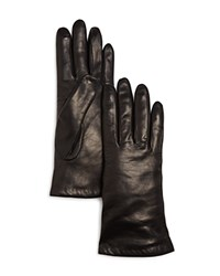 Bloomingdale's Cashmere Lined Leather Gloves 100 Exclusive Black